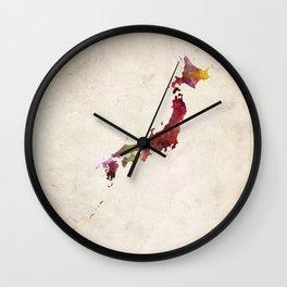 Vietnam map warm colors Wall Clock