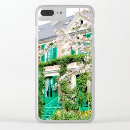 Claude Monet's Garden and Home Clear iPhone Case