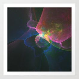 Colored Abstract Art Print