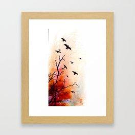 Birds flying Framed Art Print