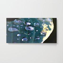 Story of a water drop Metal Print