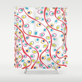 Doodle Pips Shower Curtain
