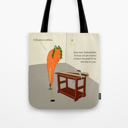 raw carrot. Tote Bag