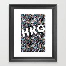 Hong Kong (Libertee City) Framed Art Print