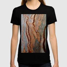 Eucalyptus Tree Bark and Wood Texture 18 T-shirt