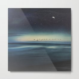 Currents - Abstract seascape Metal Print
