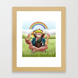 Happy Hippy Framed Art Print