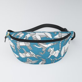 origami animal ditsy blue Fanny Pack