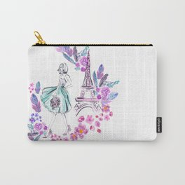 Paris Roses Carry-All Pouch