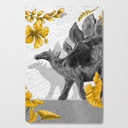 Jurassic Stegosaurus: Gold & Gray Cutting Board