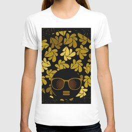 Afro Diva : Gold T-shirt