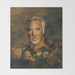 Sir Tom Jones - replaceface Throw Blanket