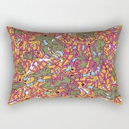 Lizard network 2 Rectangular Pillow