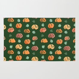 Pumpkins with Leaves Pattern on Myrtle Rug
