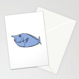 Unicorn fish illustration Stationery Cards