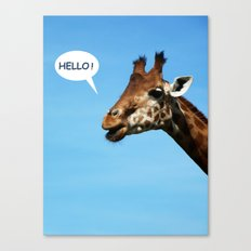 Hello ! Canvas Print