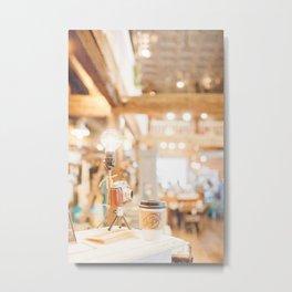 Coffee Shop and Camera Metal Print