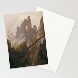Caspar David Friedrich - Rocky Lanscape in the Elbe Sandstone Mountains Stationery Cards