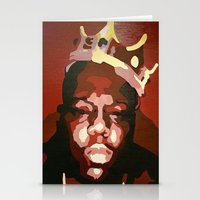 notorious big Stationery Cards featuring Notorious Big by The Art Of Gem Starr