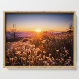 Sunset in Idyllwild, California Serving Tray