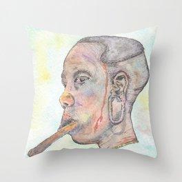 Mursi Woman Throw Pillow