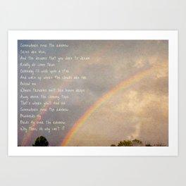 Over the Rainbow. Art Print