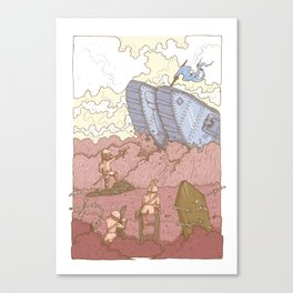 The Trench Red Canvas Print