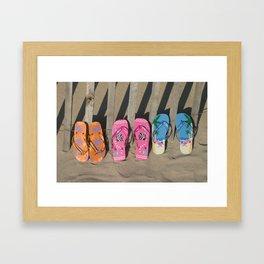 Flip Flopp'd Framed Art Print