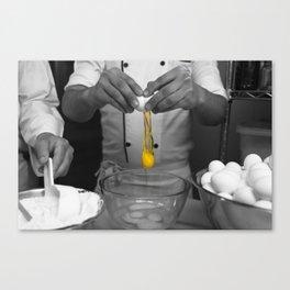 Breaking Eggs Canvas Print