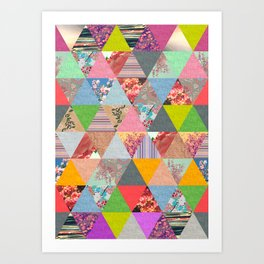 Lost in ▲ Art Print
