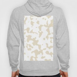 Large Spots - White and Pearl Brown Hoody
