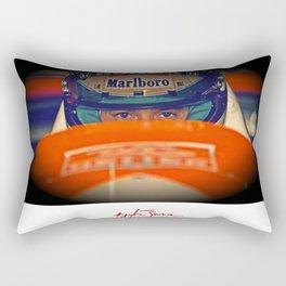 Ayrton Senna Tribute Design III Rectangular Pillow