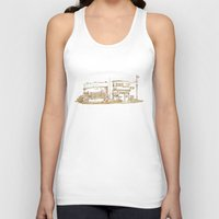 buildings Tank Tops featuring Two Buildings by Qin Leng