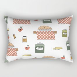 Cute Apple pie with ingredients Rectangular Pillow
