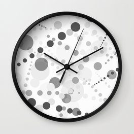 Black and gray circles on white background Wall Clock