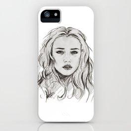 Katherine Langford, Hannah Baker iPhone Case