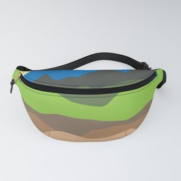 Green mountain tops Fanny Pack