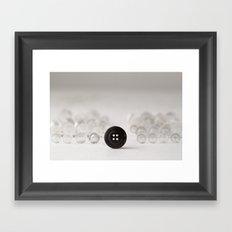 Darth Button Framed Art Print