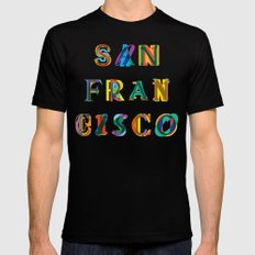 San Francisco Black Mens Fitted Tee 2X-LARGE