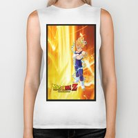 dragonball z Biker Tanks featuring Vegeta Dragonball Z best idea by customgift