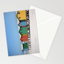 southafrica ... muizenberg beach huts IV Stationery Cards