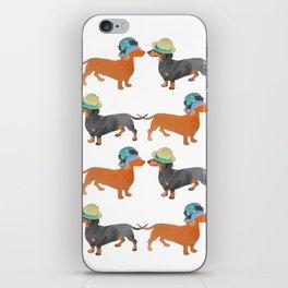 Dachshund love iPhone Skin