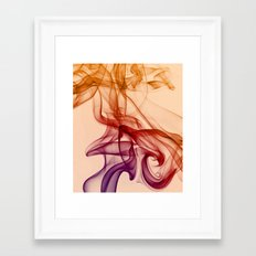 Smoke composition in pastel tones Framed Art Print