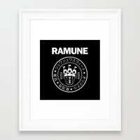 ramones Framed Art Prints featuring Ramune Punk Rock Print by Jonathan Lefrançois