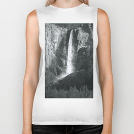 Bridalveil Falls. Yosemite California in Black and White Biker Tank