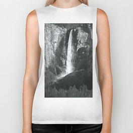 Bridalveil Falls. Yosemite California in Black and White Biker Tank