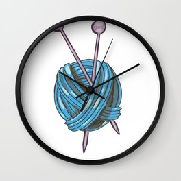 Knitting Yarn Wall Clock