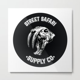 Street Safari Supply Co. Badge Metal Print