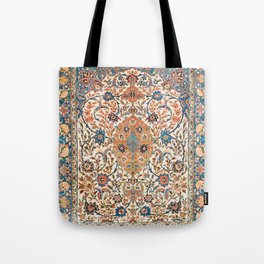 Isfahan Antique Central Persian Carpet Print Tote Bag