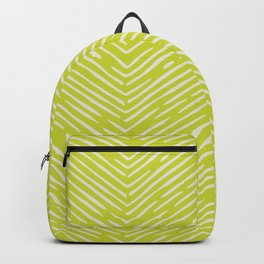Chartreuse hand drawn pattern Backpack